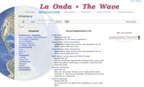 Screen shot of directory.